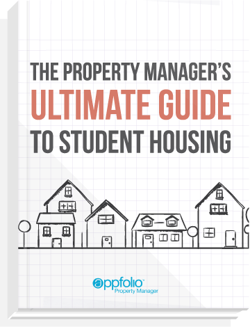 eBook cover, titled: The Property Manager's Ultimate Guide to Student Housing.